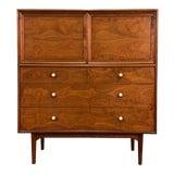 Image of Kipp Stewart for Drexel Declaration Mid-Century Modern Walnut Gentlemans Chest / Dresser For Sale