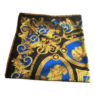 Italian Lion and Urn Versace Throw For Sale