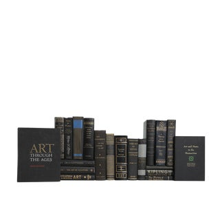 Black & Gilt Art Selections - Set of Twenty Decorative Books