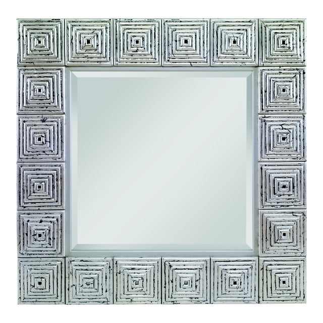 Century Furniture Silver Leaf Mirror (C415-005) For Sale
