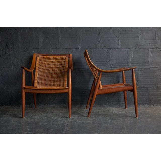 Peter Hvidt Lounge Chairs - Pair - Image 2 of 6
