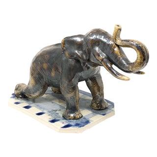 Studio Pottery Elephant Sacramento Artist Matt McMantis For Sale