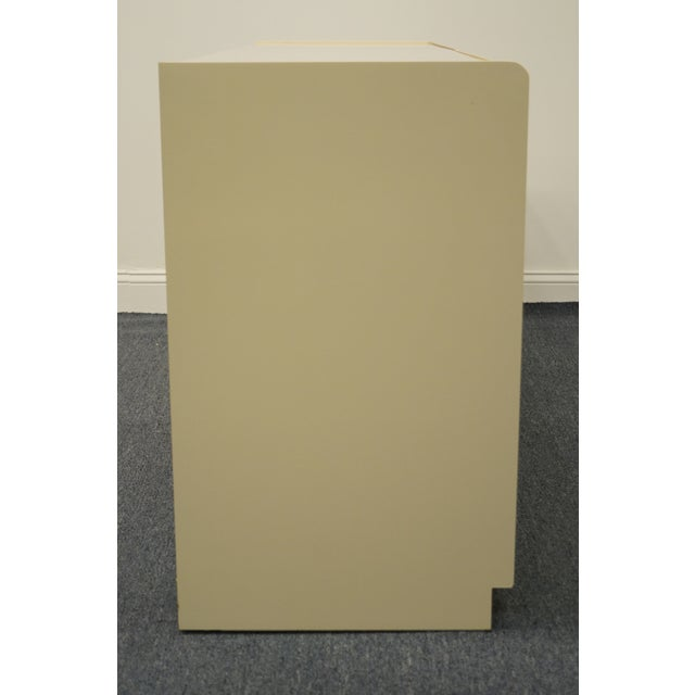 Lane Furniture Contemporary Cream/Off White Lacquered Double Dresser For Sale - Image 11 of 13