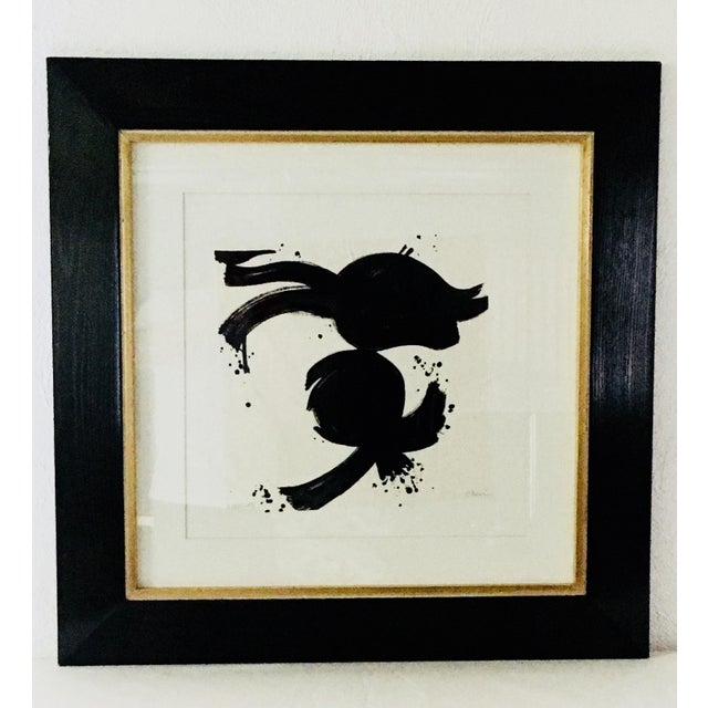 20th Century Abstract Ink on Paper For Sale - Image 9 of 10