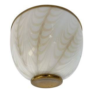 Vintage 1970s Flush Mount by Fabbian for Mazzega For Sale