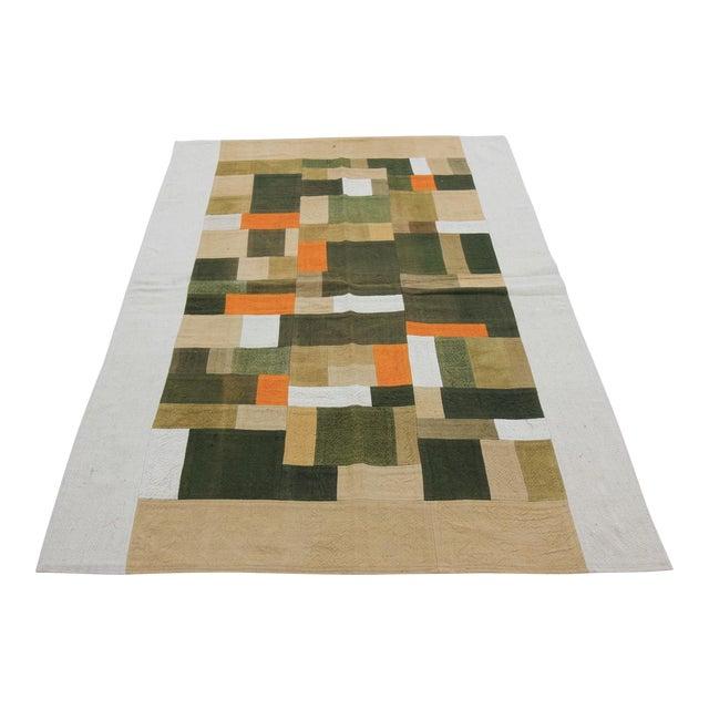 Vintage Turkish Curtain Perde Kilim Patchwork Rug - 2′6″ × 6′1″ - Image 1 of 6