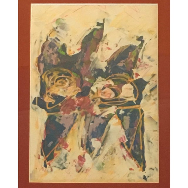 1990s Wayne Cunningham Abstract Expressionist Painting For Sale - Image 5 of 6