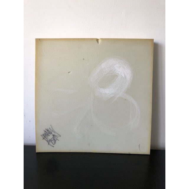 Airbrush Airbrush Flower on Selvaged Foam Abstract Art For Sale - Image 7 of 8