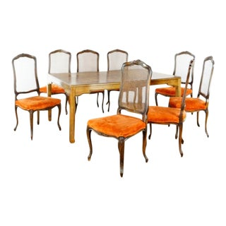 Vintage French Provincial Dining Set- 9 Pieces For Sale