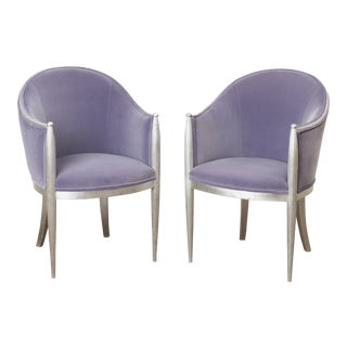 Art Deco Bergère Chairs - A Pair