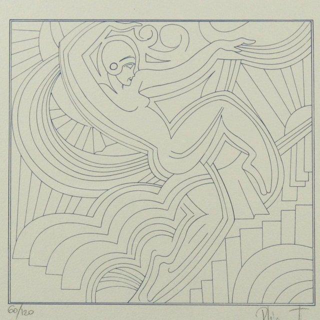 "Art Deco Patrick Fionnet After Pico ""Folies Bergere"" Facade Art Deco Lithograph For Sale - Image 3 of 11"