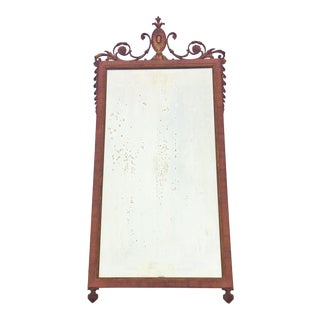 19th Century Antique French Parcel Gilt Carved Wood Mirror For Sale