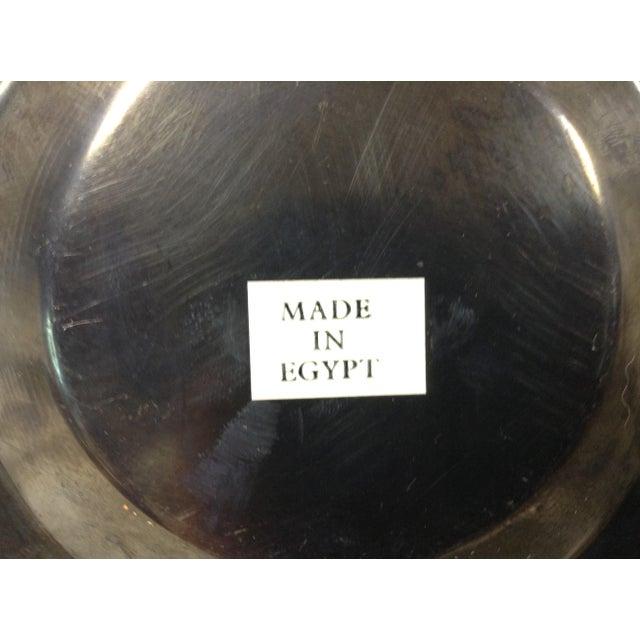 Copper Egyptian Nefertiti Plate For Sale - Image 4 of 5