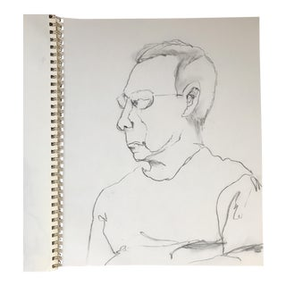 Portrait of a Man Drawing For Sale