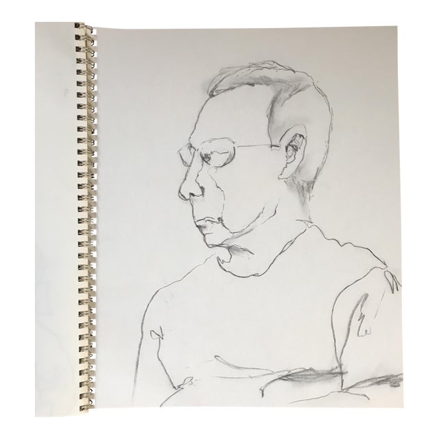 Portrait of a Man Drawing - Image 1 of 3