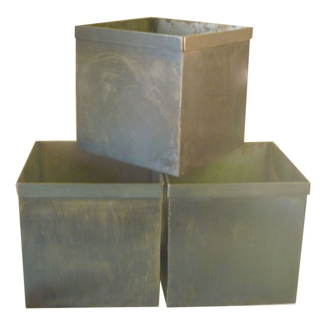 Medium Steel Storage Box - Set of 6 - Image 1 of 5