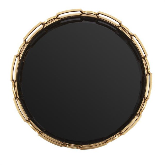 Mid-Century Modern Kenneth Ludwig Kyron Round Metal Tray For Sale - Image 3 of 5