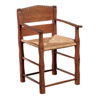 Danish Folk Art Chair From 1842 For Sale