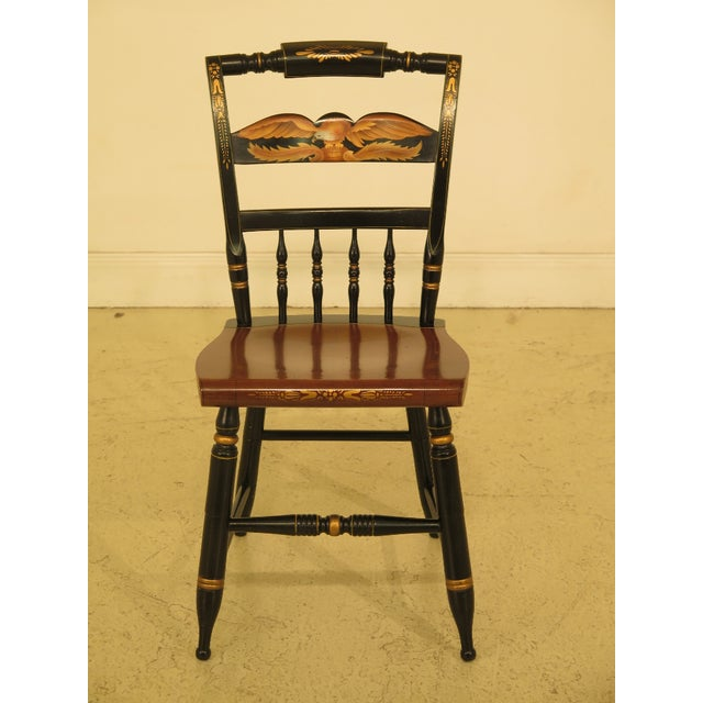 1970s Vintage Hitchcock Eagle Stenciled Maple Side Chair For Sale - Image 10 of 10