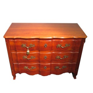 John Widdicomb French Provencial Cherry Three-Drawer Dresser For Sale