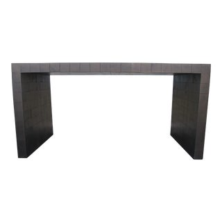 20th Century Contemporary Solid Wood Waterfall Console Table For Sale