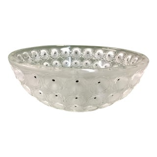 Lalique Nemours French Art Glass Bowl For Sale
