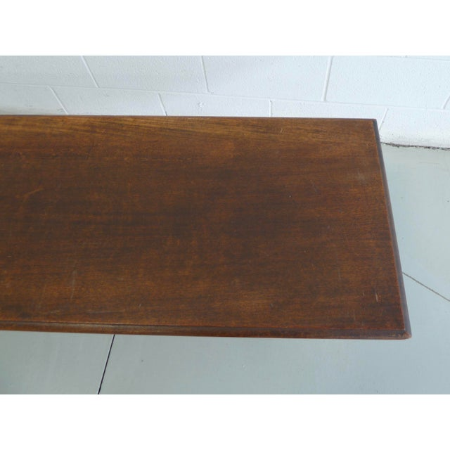 Wood Antique Wood Table With Carved Floral Motif For Sale - Image 7 of 13