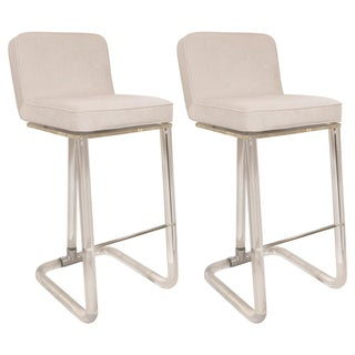 Acrylic Bar Stools by Lion in Frost - a Pair For Sale