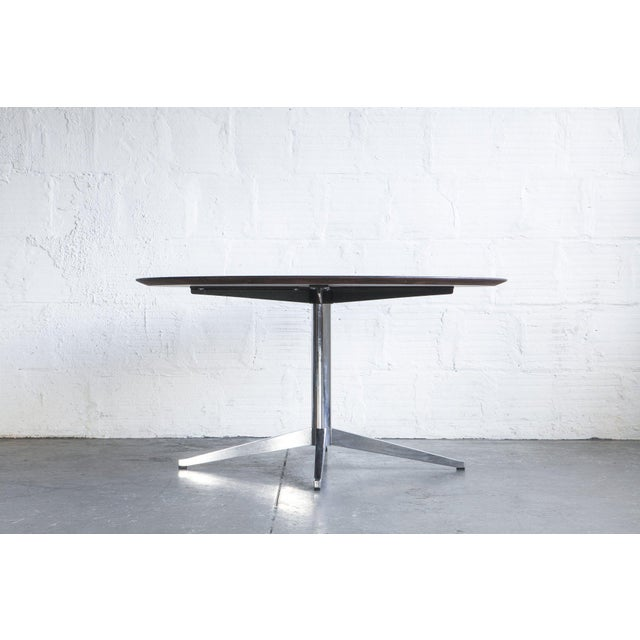 Mid-Century Modern Black Knoll Dining Table For Sale - Image 3 of 6