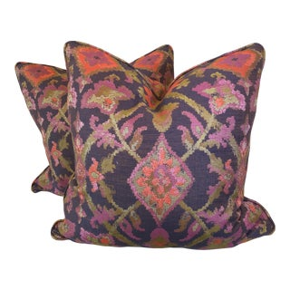 "22"" Woven Floral Pillows - a Pair"