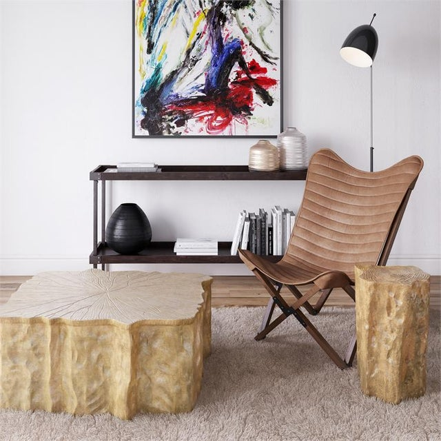 2020s Kenneth Ludwig Leather Sling Chair For Sale - Image 5 of 8