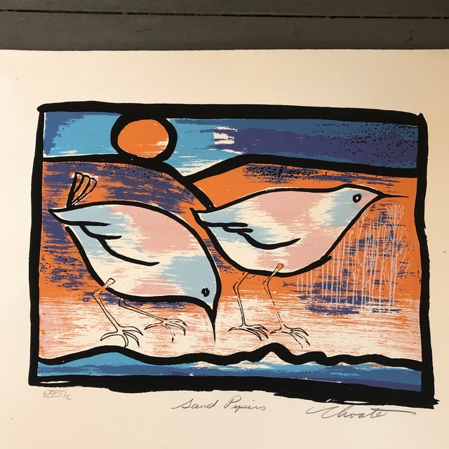 Gallery Wall Collection 3 Vintage Original Bird Woodblock Prints For Sale - Image 4 of 6