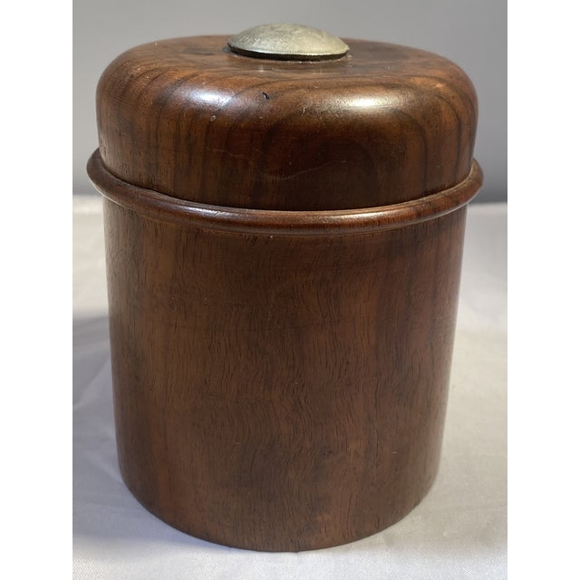 Wood Antique English Edwardian Period Pipe Tobacco Walnut Humidor For Sale - Image 7 of 10