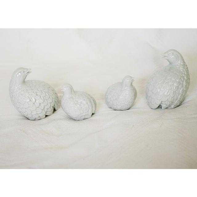 English Traditional Vintage Porcelain Quails - Set of 4 For Sale - Image 3 of 4