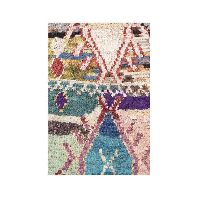 Vintage Moroccan Boucherouite rug Boucherouite #120BS Recycled textiles.