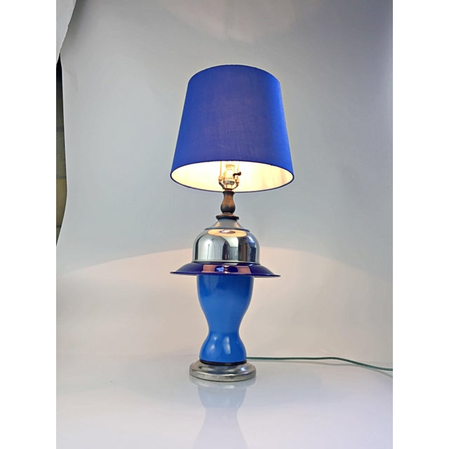 Table Lamp in Multiple Colors of Blue For Sale - Image 12 of 12