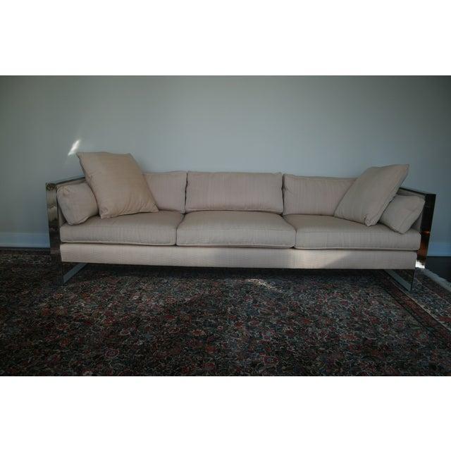 Milo Baughman Chrome Sofa and Loveseat - Image 4 of 11