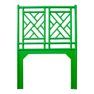 Chippendale Headboard Twin - Bright Green For Sale