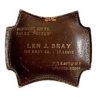 1970s Vintage Advertising Premium Leather Goods Paper Weight For Sale