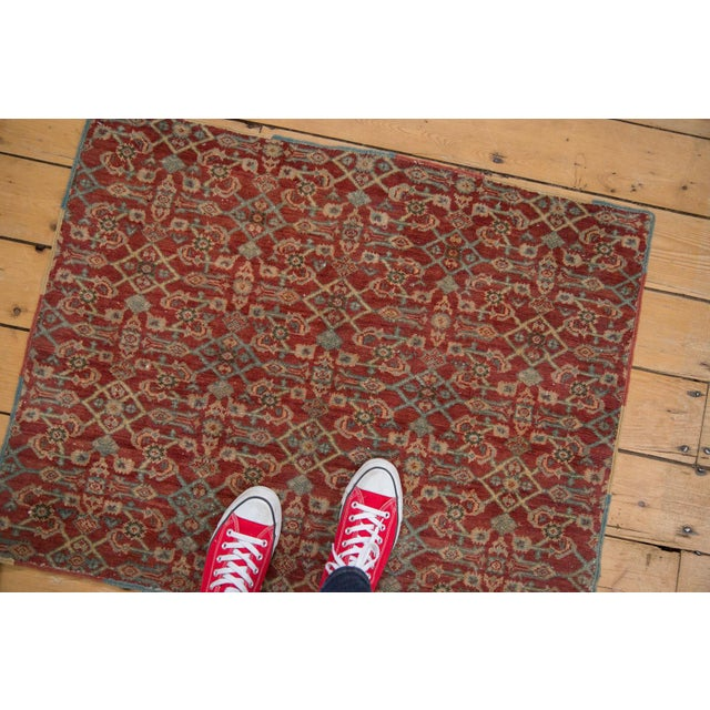 """Old New House Vintage Fragment Mahal Square Rug - 2'7"""" X 3'2"""" For Sale - Image 4 of 9"""