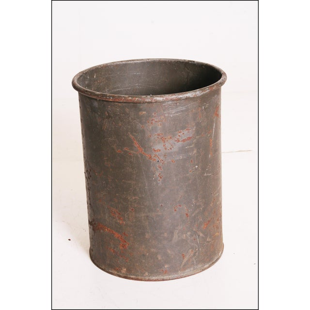 Vintage Industrial Green Metal Military Can - Image 10 of 11