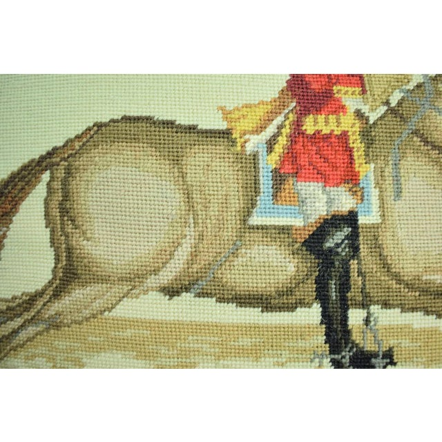 Equestrian Petit-Point Pillows - A Pair For Sale - Image 5 of 6