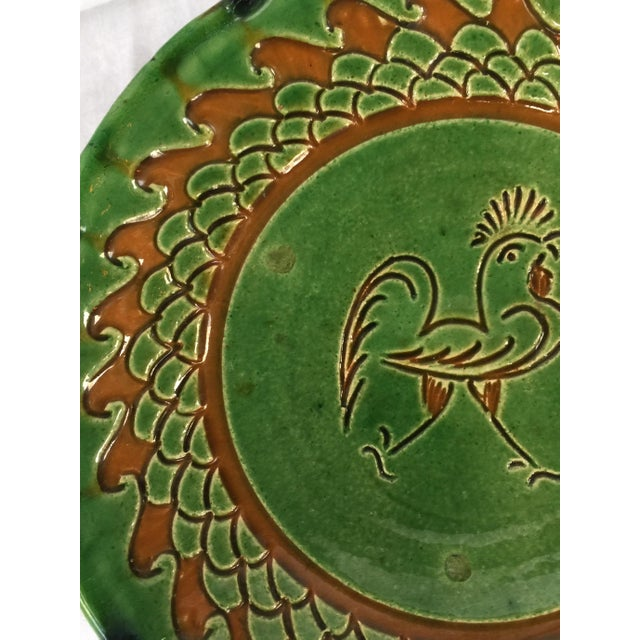 Spanish Decorative Hanging Plate Paco Tito of Ubeda, Spain, Rooster For Sale - Image 9 of 12