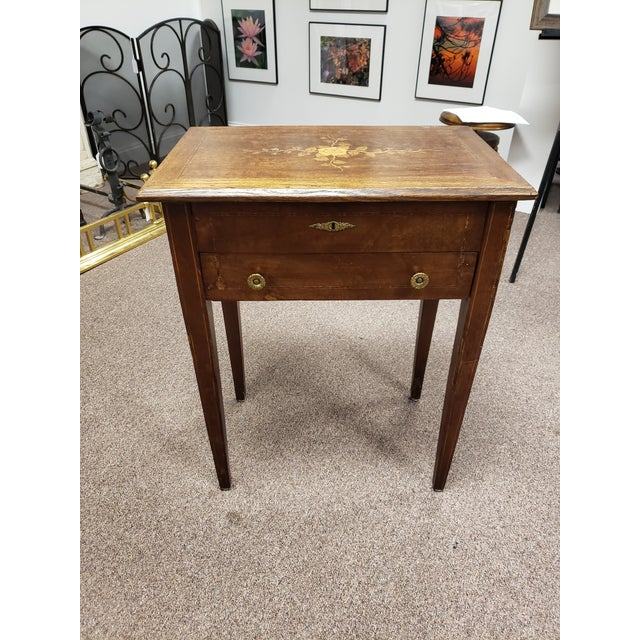 Antique 19th Century Inlaid Wooden Dressing/Vanity Table For Sale - Image 13 of 13
