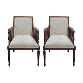 1920s English Mahogany Armchairs - A Pair For Sale