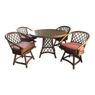 Ficks Reed Dining Set (Table + 4 Chairs)