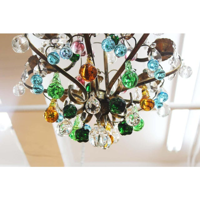 Transparent 1950s Italian Mid Century Modern Murano Glass Fruit Chandelier For Sale - Image 8 of 13