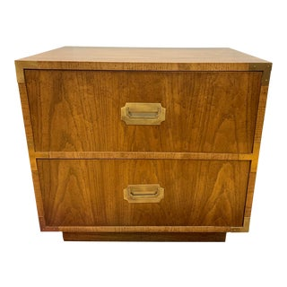 Vintage Campaign Style Dixie Nightstand For Sale