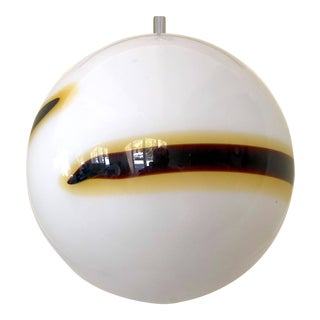 Venini Murano pendant Glass Globe Handblown 35 cm, 1960