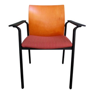 1990s Vintage Steelcase Deck Stackable Guest Chair Style Deckc25 For Sale